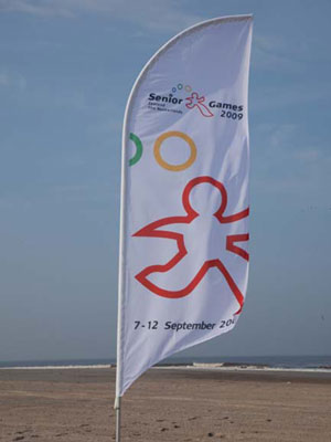 Beachflag senioren games